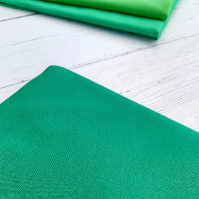 Emerald Green Cotton Lycra Jersey Knit Fabric