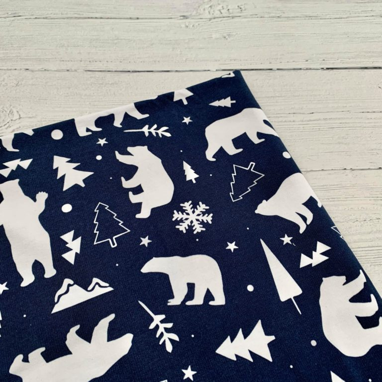 Winter Bears Caboodle Textiles Exclusive French Terry Fabric