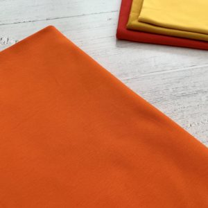 Orange Cotton Lycra Jersey Knit Fabric