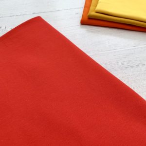 Red Cotton Lycra Jersey Knit Fabric