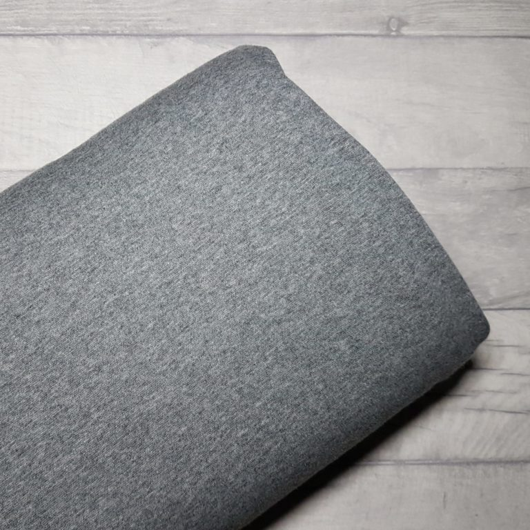 Grey Alpine Fleece Stretch Sweat Fabric