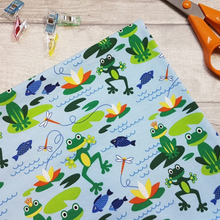 Frog Pond Blue Cotton Jersey Knit Fabric