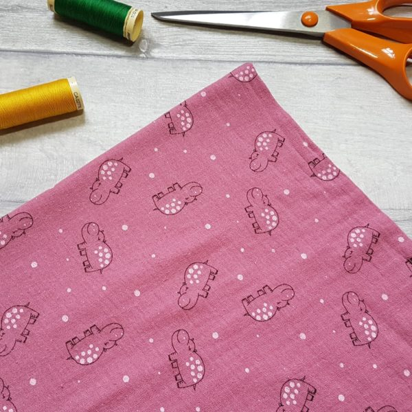 Hippo Pink Double Gauze Light Weight Cotton Fabric