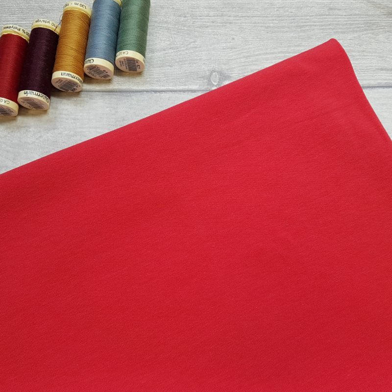 Red Bamboo Jersey Fabric