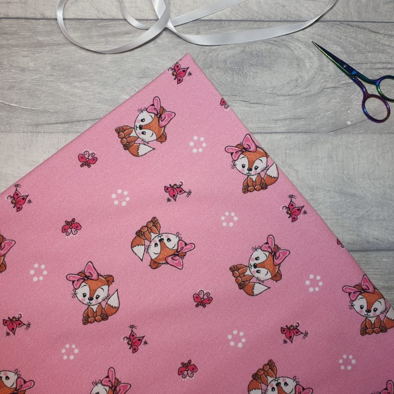 Butterfly Fox Pink French Terry